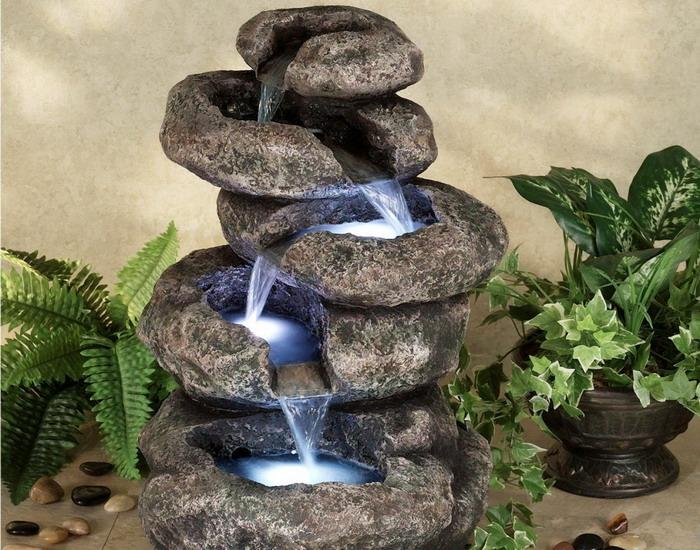 Фонтаны из камня своими руками фото